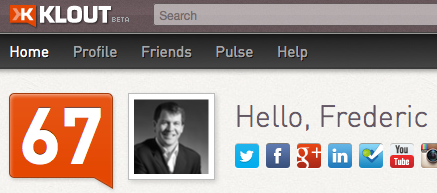 Frederic Gonzalo on Klout