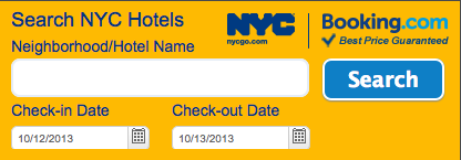NYCGo and Booking.com