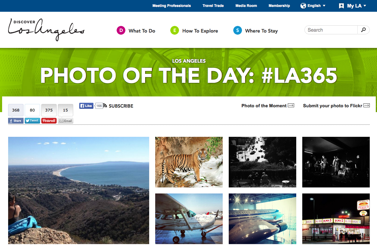 Instagram Photo of the Day on Discover LA site