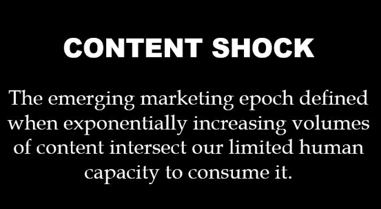 """Definition of """"Content Shock"""""""