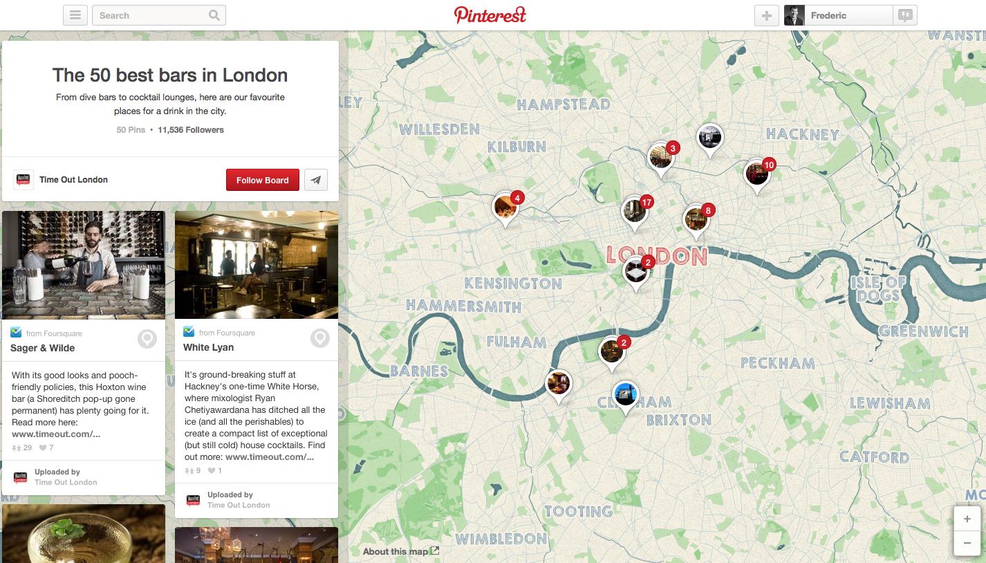 Best 50 bars in London, Place Board on Pinterest