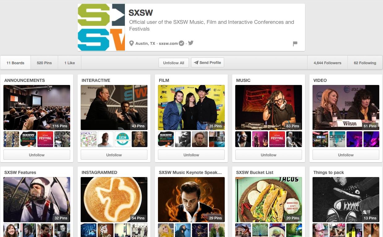 SXSW on Pinterest
