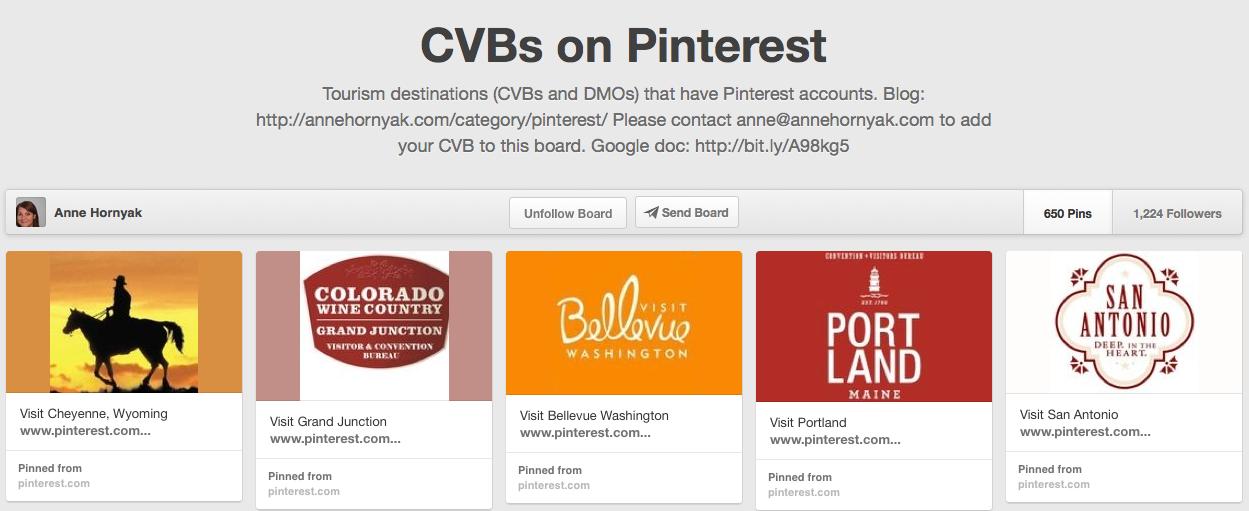 CVBs and DMOs on Pinterest