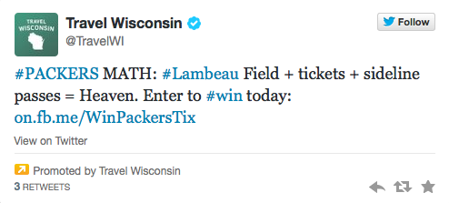 Travel Wisconsin campaign on Twitter