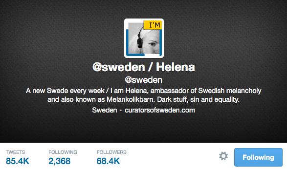 @sweden on Twitter