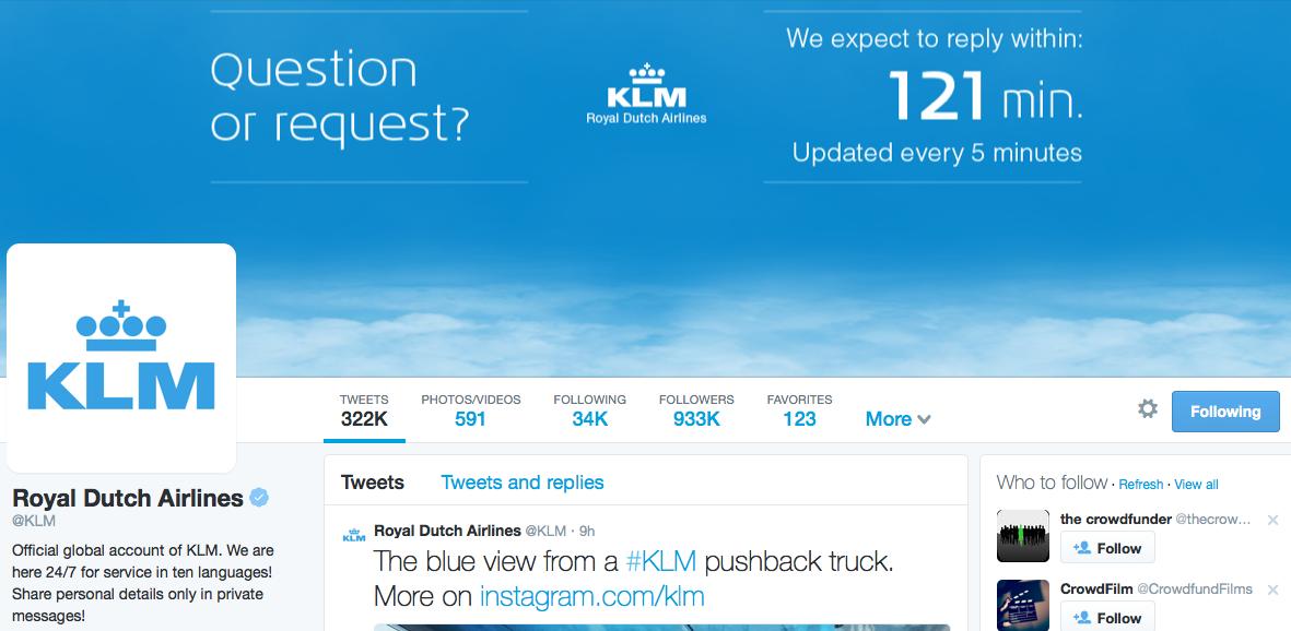KLM on Twitter