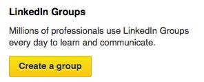 Create a Group on LinkedIn