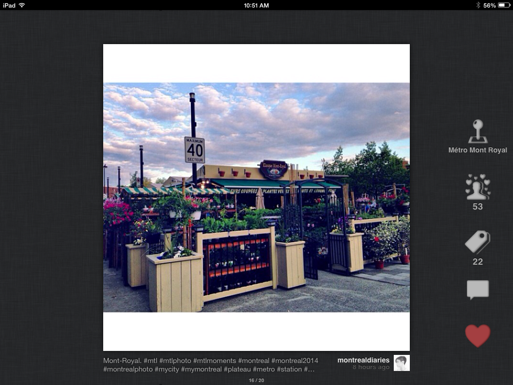 InstaMap search with #MTLmoments