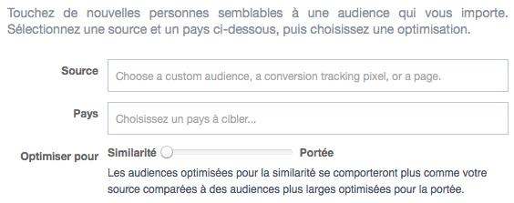 Créer des audiences similaires dans Facebook