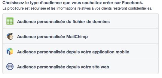 Créer une audience personnalisée sur Facebook