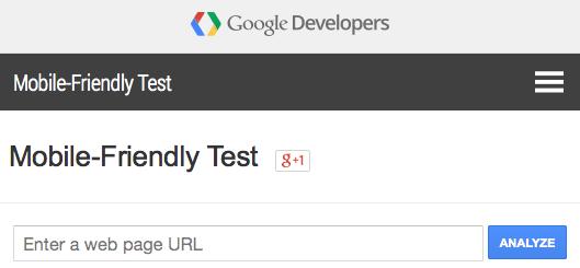 Test mobile-friendly de Google