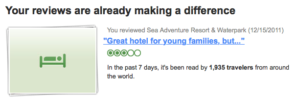 TripAdvisor reviews get read by a lot of people!