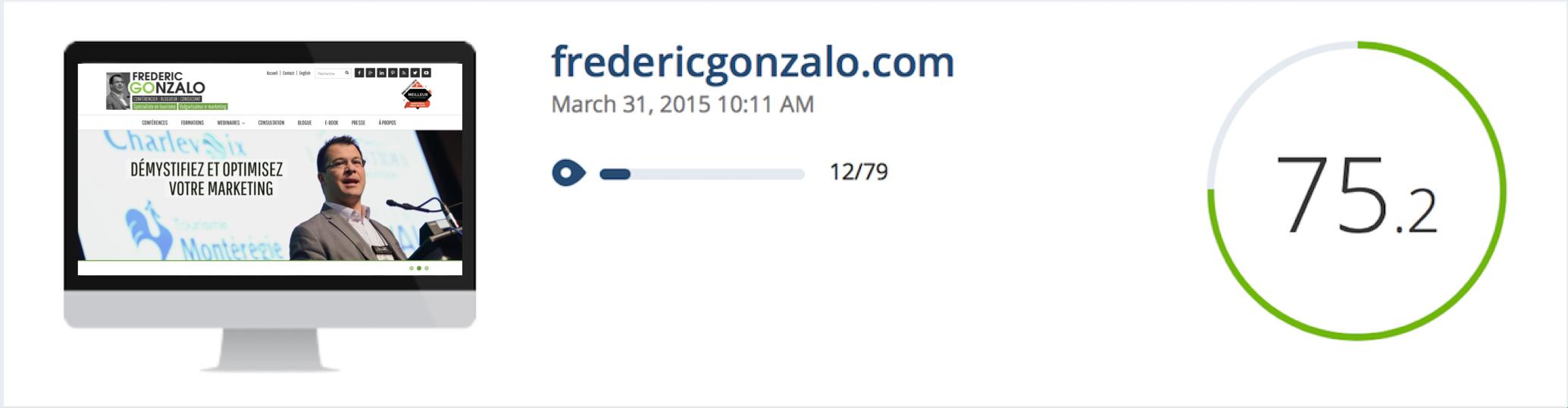 Audit web du site de Frédéric Gonzalo