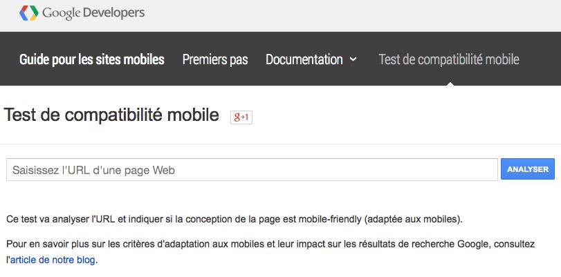 Le test mobile-friendly de Google