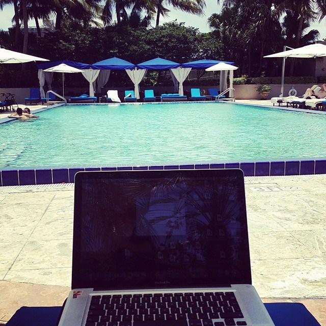 Chillin' by the poolside, at Ritz Carlton Coconut Grove in Miami