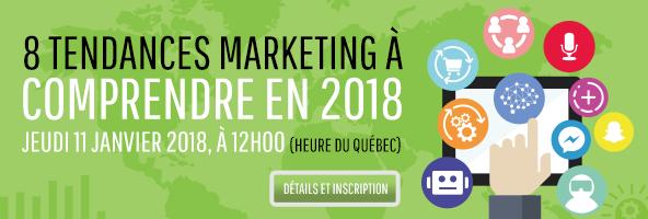 Webinaire gratuit 8 tendances marketing pour 2018