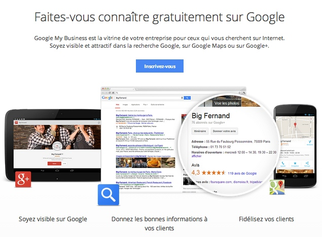 Google My Business en Français