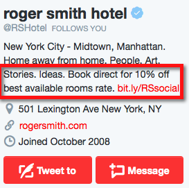 Roger Smith Hotel on Twitter