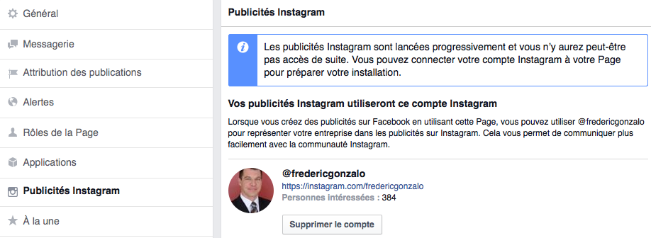 Publicité croisée entre Facebook et Instagram