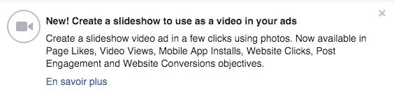 Nouvelle fonctionnalité de vidéo en carrousel sur Facebook