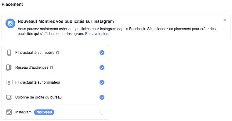 Publicité sur Instagram, depuis votre compte Facebook