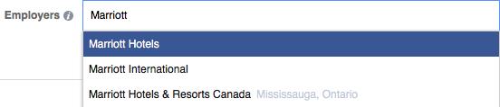 Employer targeting on Facebook