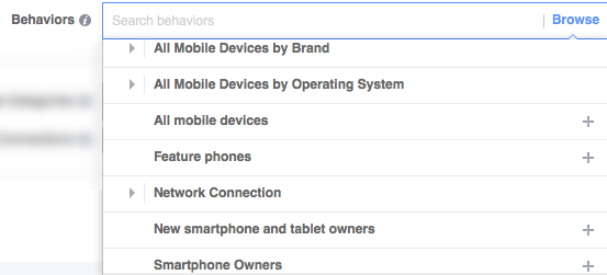 Facebook targeting by mobile users
