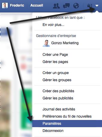 Paramètres de compte Facebook