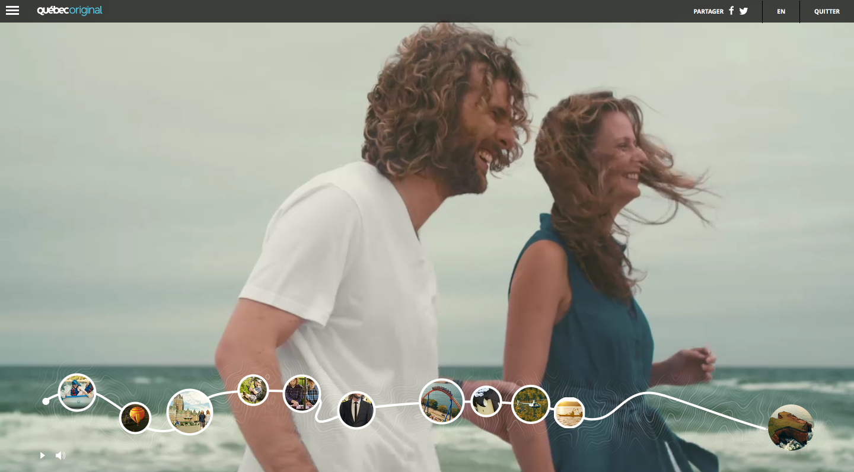 Danny Kean et Judith Baribeau, dans la plus récente campagne de Tourisme Québec