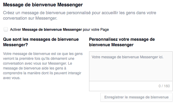 Communications entre personnes et entreprises via Messenger