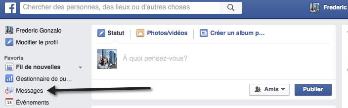 Messages dans Facebook