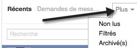 Messagerie cachée de Facebook