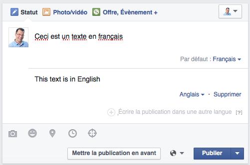 Publier en différentes langues sur une page Facebook