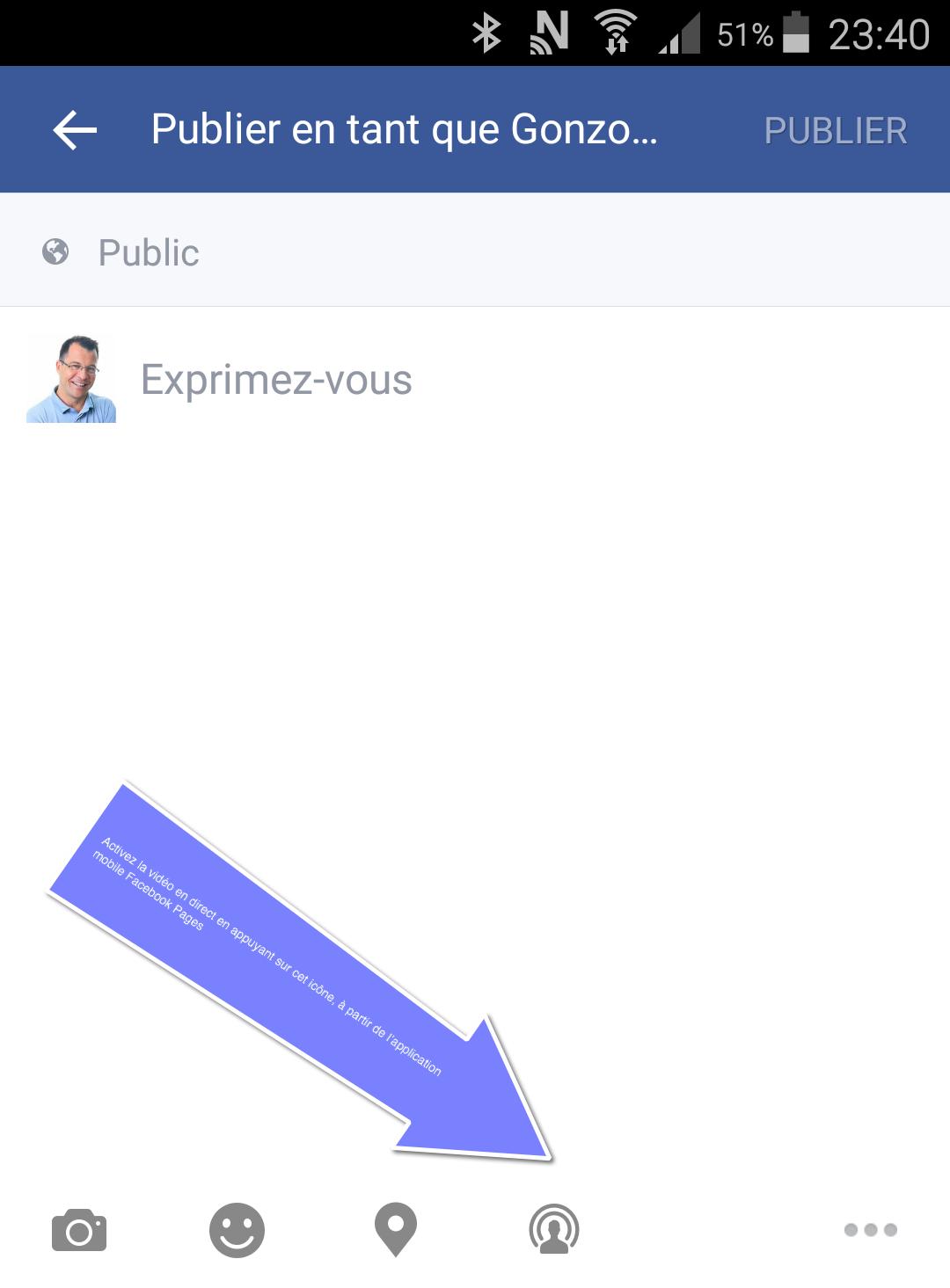Comment activer la vidéo en direct avec Facebook