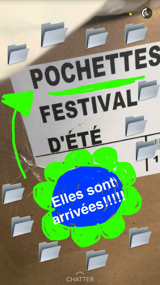 Le compte du Festival d'été de Québec, sur Snapchat, @festivaleteqc