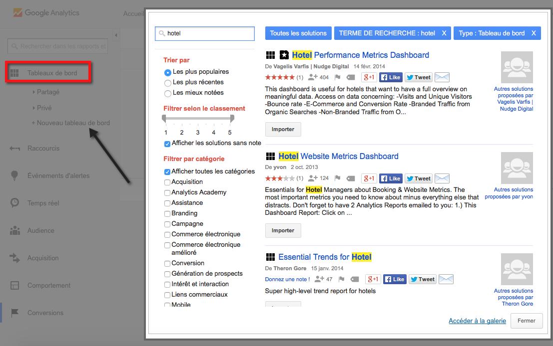 Création de rapports dans Google Analytics