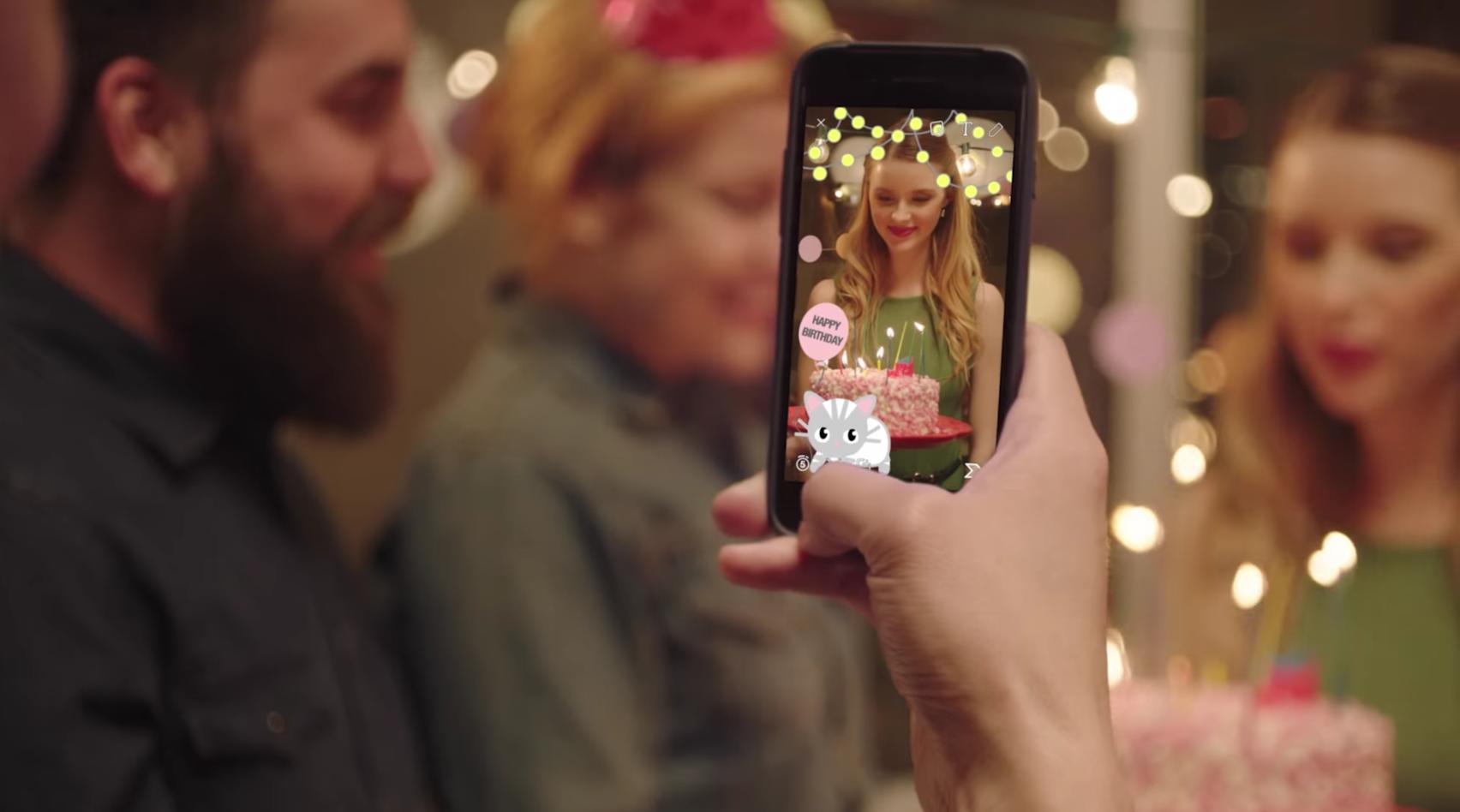Filtre personnalisé pour Snapchat