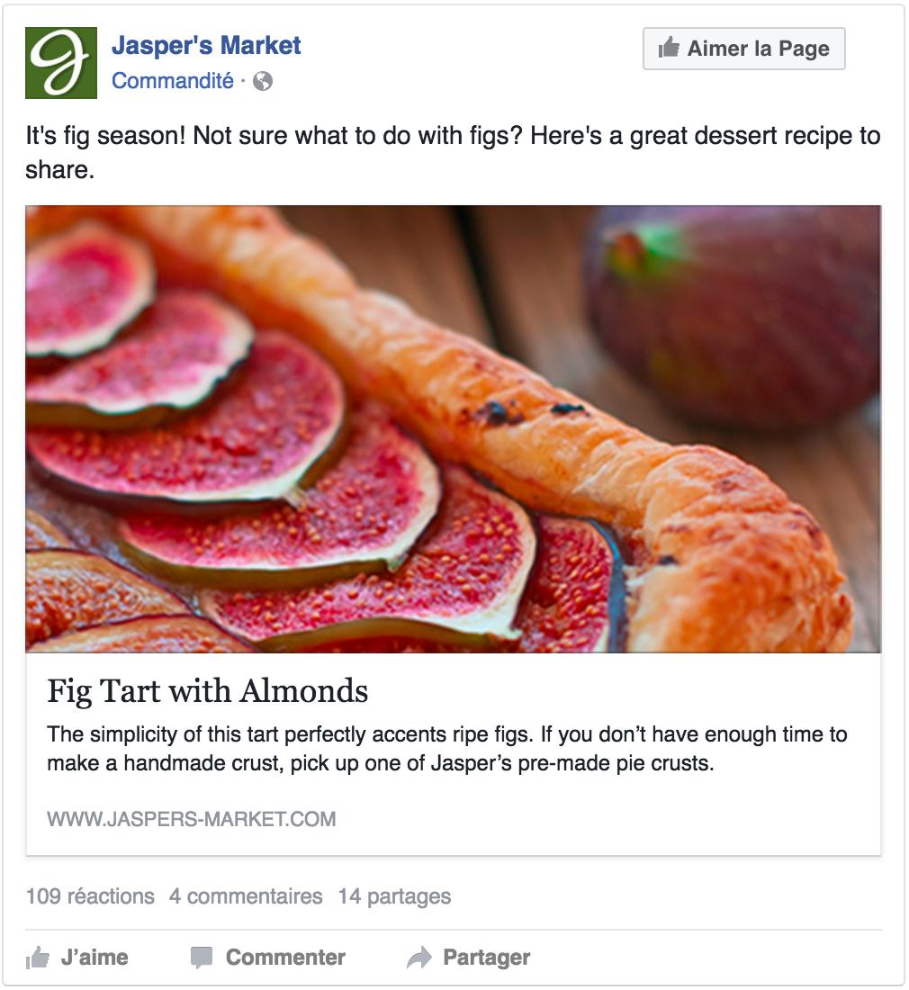 Exemple de publicité pour générer des clics vers un site web