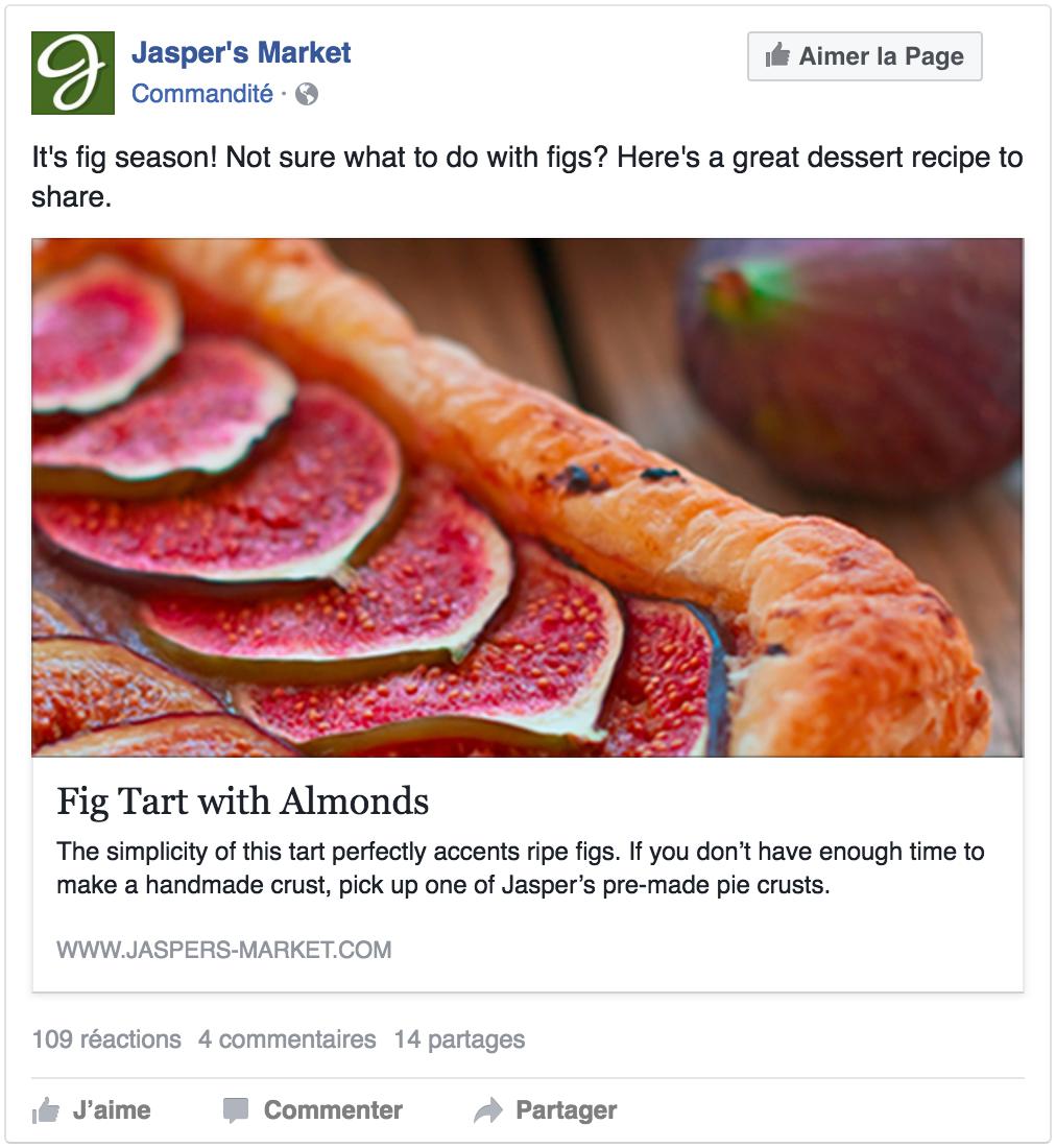 Exemple de publicité pour inciter la conversion