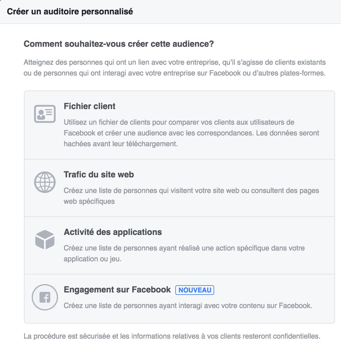 Définir une audience personnalisée sur Facebook