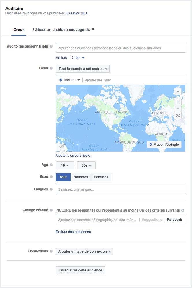 Définir votre auditoire Facebook