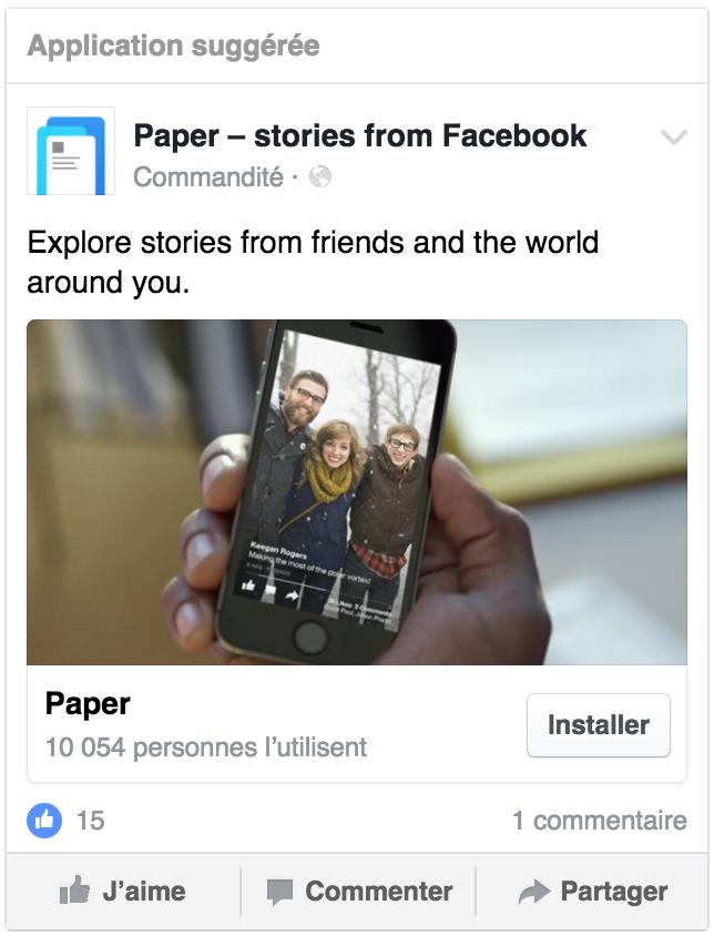 Exemple de publicité pour inciter à télécharger une application mobile