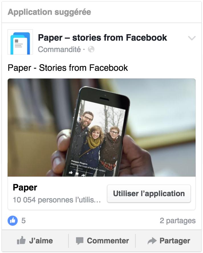 Exemple de publicité incitant à utiliser une application mobile