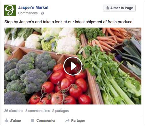 Publicité vidéo sur Facebook