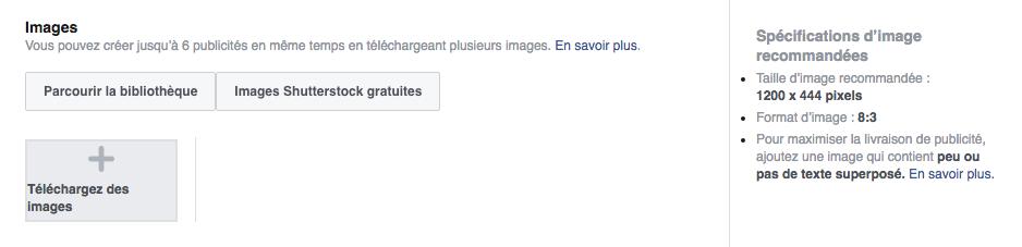 Média publicitaire sur Facebook