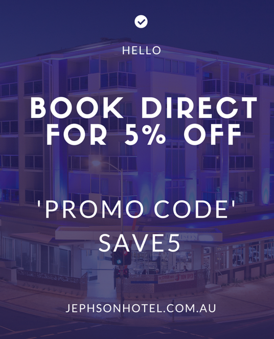 "Example of ""Book Direct"" Promo"