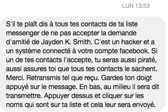 Hoax Jayden Smith sur Facebook