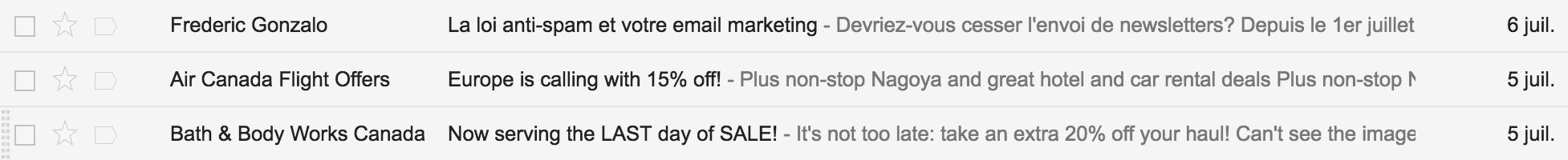 Envoi de courriel et réception dans votre inbox