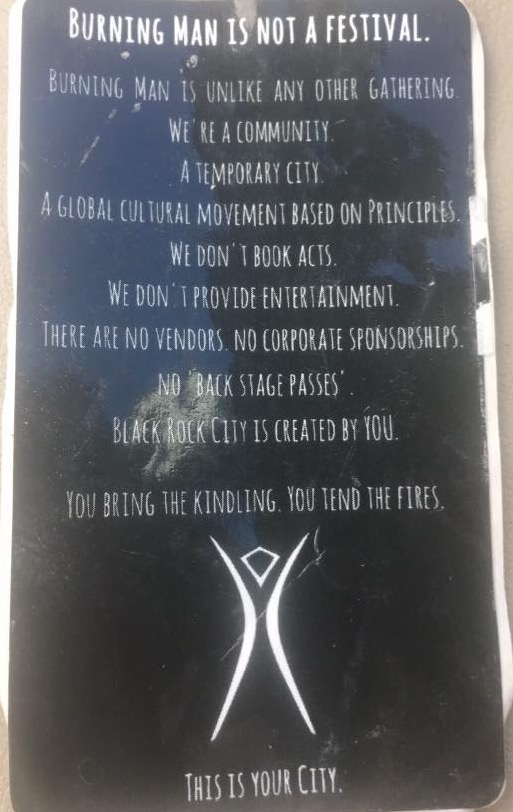 Burning Man Manifesto