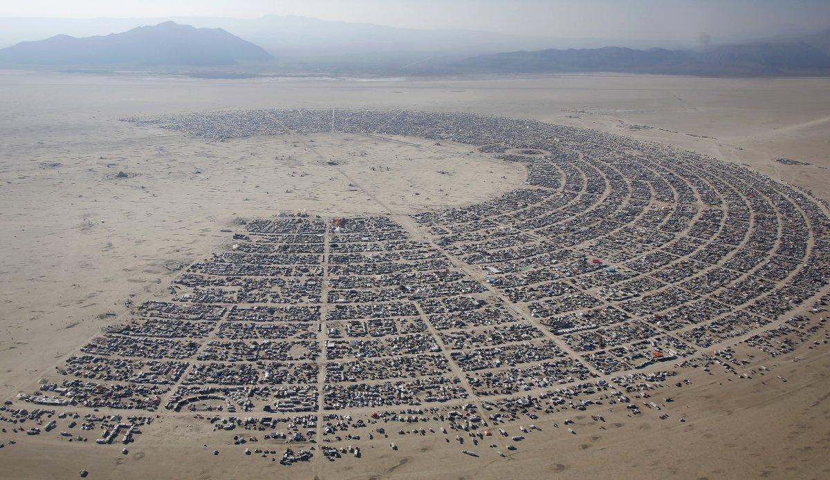 Le site de Burning Man vu du ciel